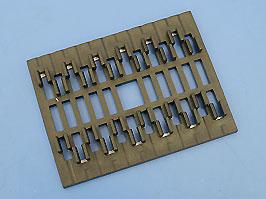 Сплайс кассета на 12 оптических волокон (70х54 мм)