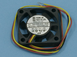 Вентилятор 30х30х7, 12В (подшипник скольжения) (DFS300612H)