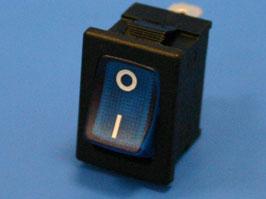 Выключатель 3 конт. 19х13мм, с подсветкой, синий (вкл.-выкл.)