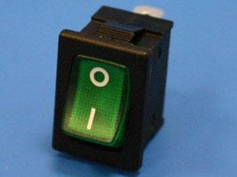 Выключатель 3 конт. 19х13мм, с подсветкой, зеленый (вкл.-выкл.)