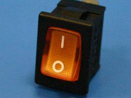 Выключатель 3 конт. 19х13мм, с подсветкой, оранжевый (вкл.-выкл.)