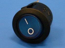 Выключатель 3 конт. круглый, d 20мм, с подсветкой (синий) (вкл.-выкл.)
