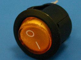 Выключатель 3 конт. круглый, d 20мм, с подсветкой (оранжевый) (вкл.-выкл.)