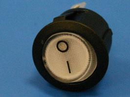 Выключатель 3 конт. круглый, d 20мм, с подсветкой (белый) (вкл.-выкл.)