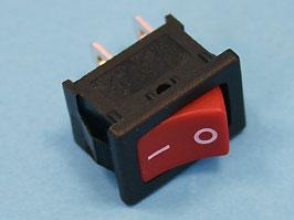 Выключатель 2 конт. 19х13мм (красный) (вкл.-выкл.)