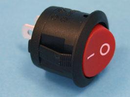 Выключатель 2 конт. круглый, d 20мм, красный (вкл.-выкл.)