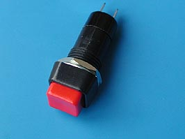 Кнопка квадр. 15х15мм с фикс.В160А (красная)