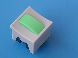 Кнопка мини без фикс. зеленая в сером корп
