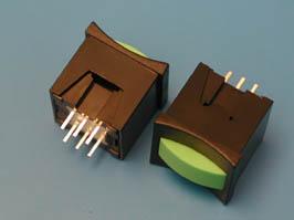 Кнопка мини без фикс. зеленая в черном корп