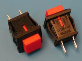 Кнопка 15х15 креп.защелка c фикс.В169С 220В (черная)
