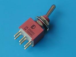 Тумблер мини 6 конт. DPDT (on-on) IP67 (B068ET)