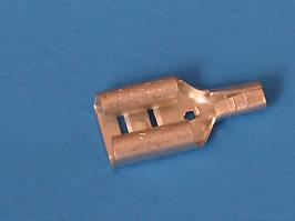 Клемма нож.авто(м) 6,3мм. пров.0,5-1,5мм.(FDN1-250) (кратно 100шт.)