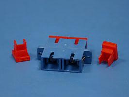 Соединительная розетка SC, двойная, одномодовая, керамика