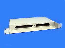 Оптический кросс 19' 1U 16 портов со сплайс касcетой (без планок)