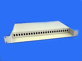 Оптический кросс 19' 1U 24 порта SC со сплайс касcетой