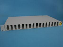 Оптический кросс 19' 1U 64 порта SC со сплайс касcетой