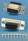 Разъем 9pin.(м) на кабель, обжимные контакты