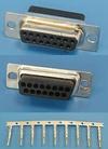 Разъем 15pin.(м) на кабель, обжимные контакты