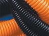 Гофрированная труба со стальной протяжкой ПНД, d 25мм,оранжевая