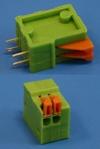 Клеммник с зажимом 2 позиции, шаг 2,54 мм