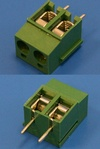Клеммник с винтом 2 позиции, шаг 5,00мм(TL202V-2PGS)