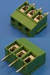 Клеммник с винтом 3 позиции, шаг 5,00мм(TL202V-3PGS)