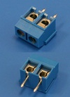 Клеммник с винтом 2 позиции, шаг 5,00мм, короткие(TL201V-2PLS)