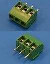 Клеммник с винтом 3 позиции, шаг 3,5мм (TL001V-3PGS)