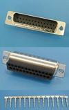 Разъем 25pin.(п) на кабель, обжимные контакты