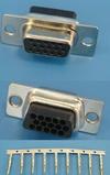 Разъем 15pin.VGA(м) на кабель, обжимные контакты (HDD-15F-92)